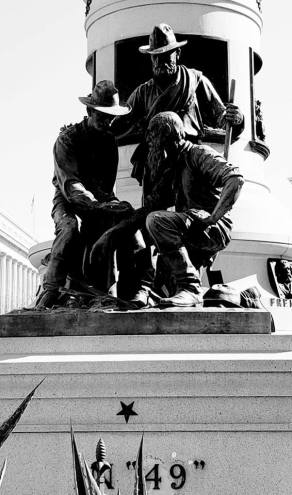 Forty-Niner statue in SF Civic Center
